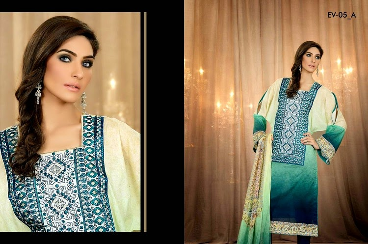 Five Star Vogue Digital Embroidered Eid Collection 2014