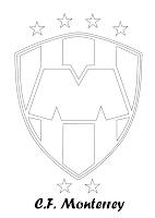 CF MONTERREY PARA COLOREAR