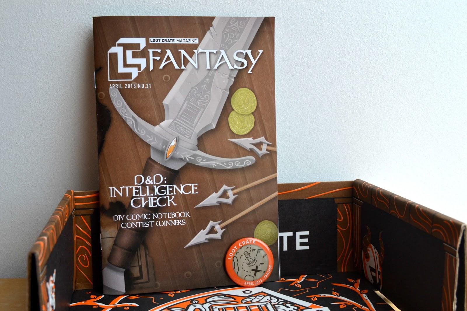 Magazine badge Fantasy Loot Crate