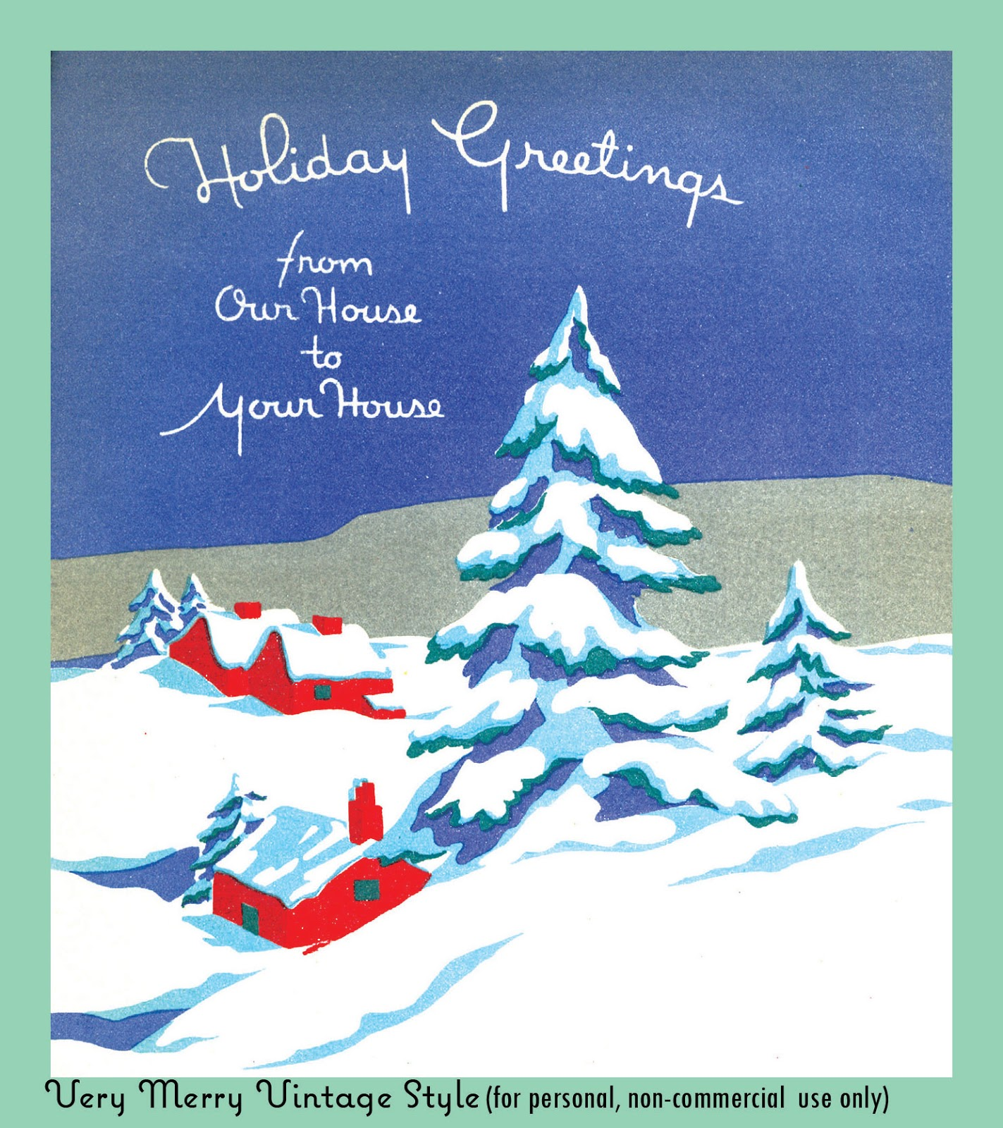 Christmas card sayings from our home to yours the best collection very merry vintage syle from our house to yours vintage christmas card kristyandbryce Choice Image