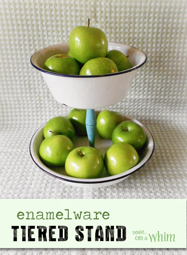 Enamelware Tiered Stand from Denise on a Whim
