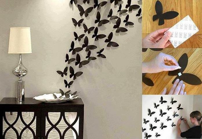 DIY Butterfly Wall Art diy crafts craft ideas easy crafts diy ideas diy idea diy home