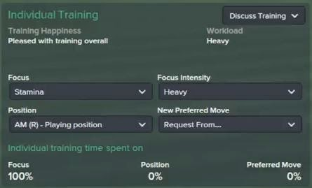 football manager 2015 individual training