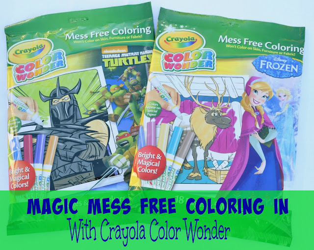 Magic Mess Free Coloring In with Crayola Color Wonder