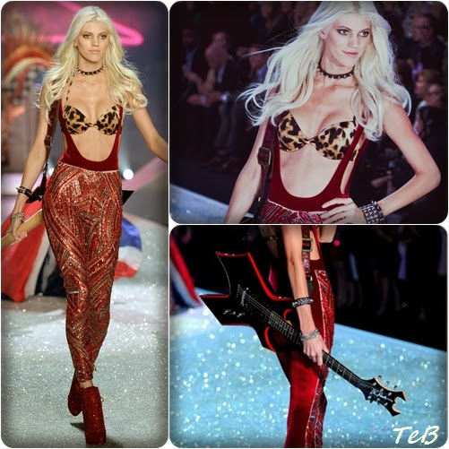 "Debut ""David Bowire style"" for the platinum blonde model on the glittery runway: This is Devon Windsor"