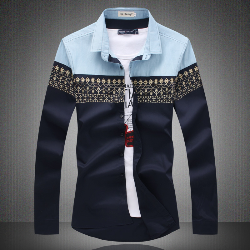 Mughni fashion shirts for boys for Men slim fit shirts