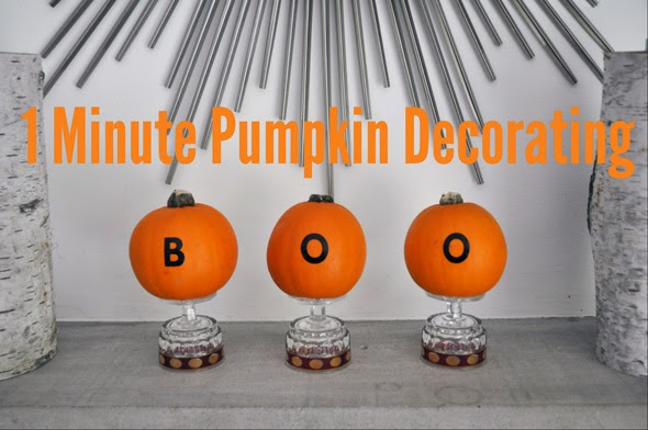 One Minute Pumpkin Decorating
