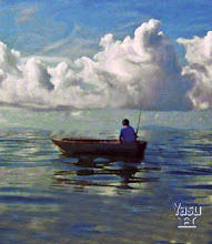 """Fisherman In Old Boat"""