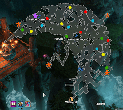 New Moon event - Varholm - positions of mini bosses