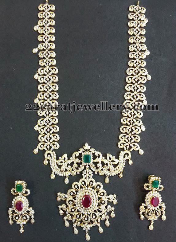 Diamond Long Set with Pathakam Pendant