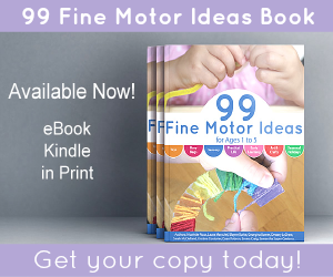 99 Fine Motor Ideas for Ages 1 to 5 book available now! from And Next Comes L