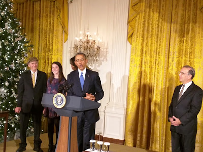 Manny & Lauren Lindenbaum, Michelle Obama, President Obama & Rabbi Sid Schwarz