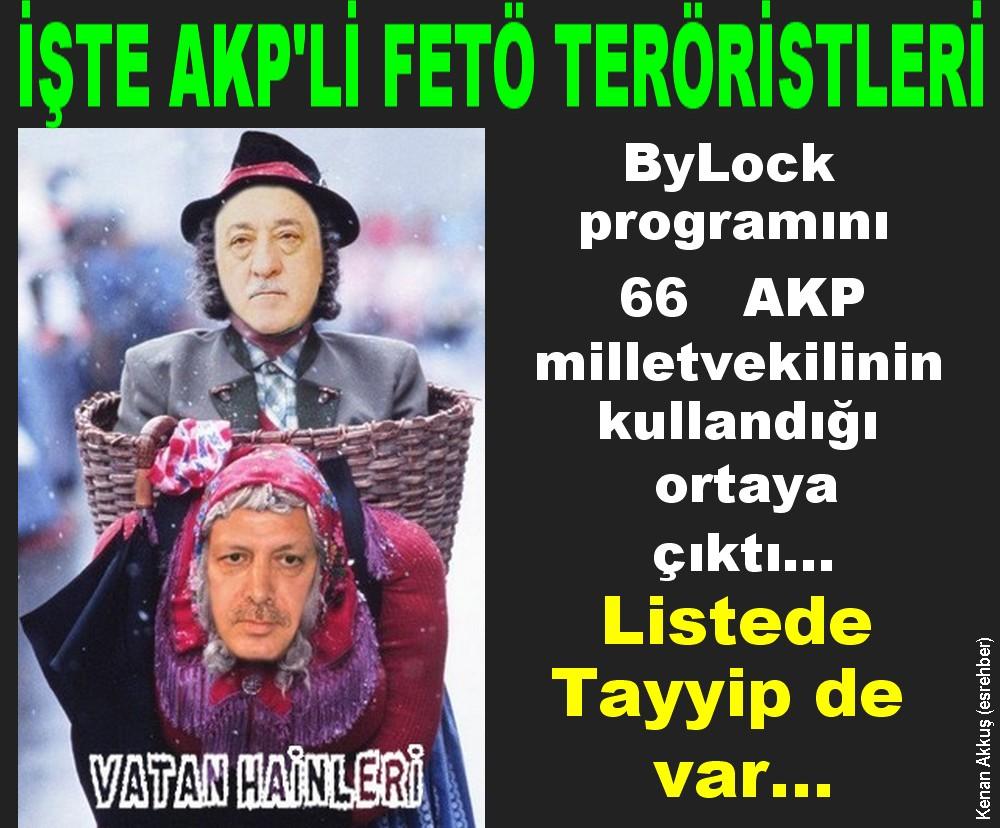 MİT'İN LİSTELEDİĞİ İŞTE O  66  AKP MİLLETVEKİLİ FETÖ TERÖRİSTİ