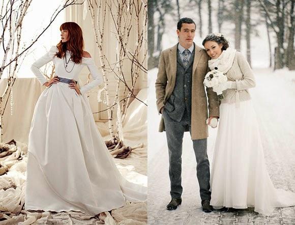 Casarse en invierno: Vestidos de novia