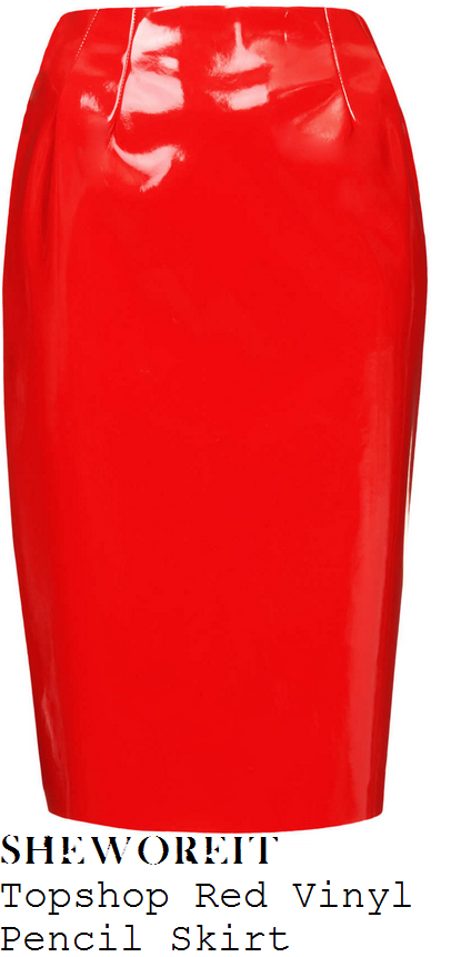 sam-faiers-red-high-shine-vinyl-pvc-patent-pencil-skirt-this-morning