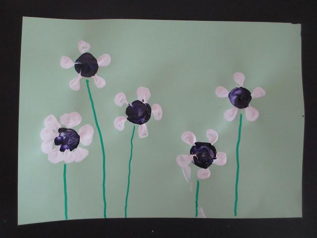 stempeln Blumenwiese