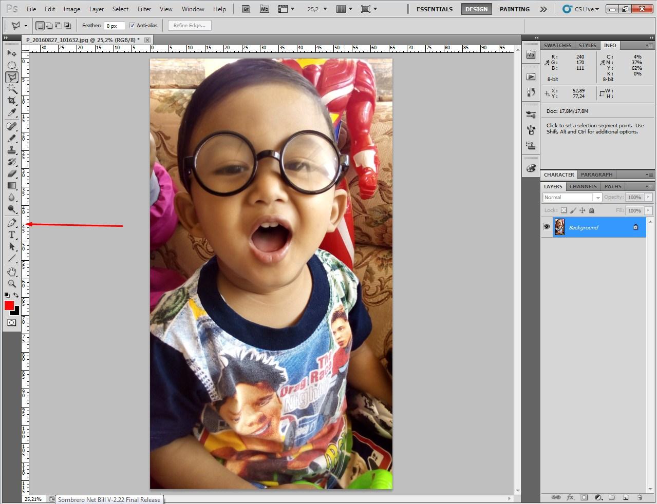 Cara menerangkan foto dengan photoshop cs2 50