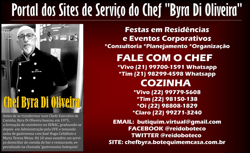 CHEF BYRA | Buffet Gourmet | Boteco em Casa | Boteco Truck | Artigos Festa Boteco