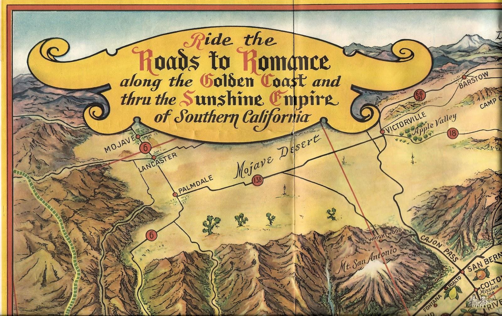 OC History Roundup Ride The Roads To Romance - Map of usc sunshine coast
