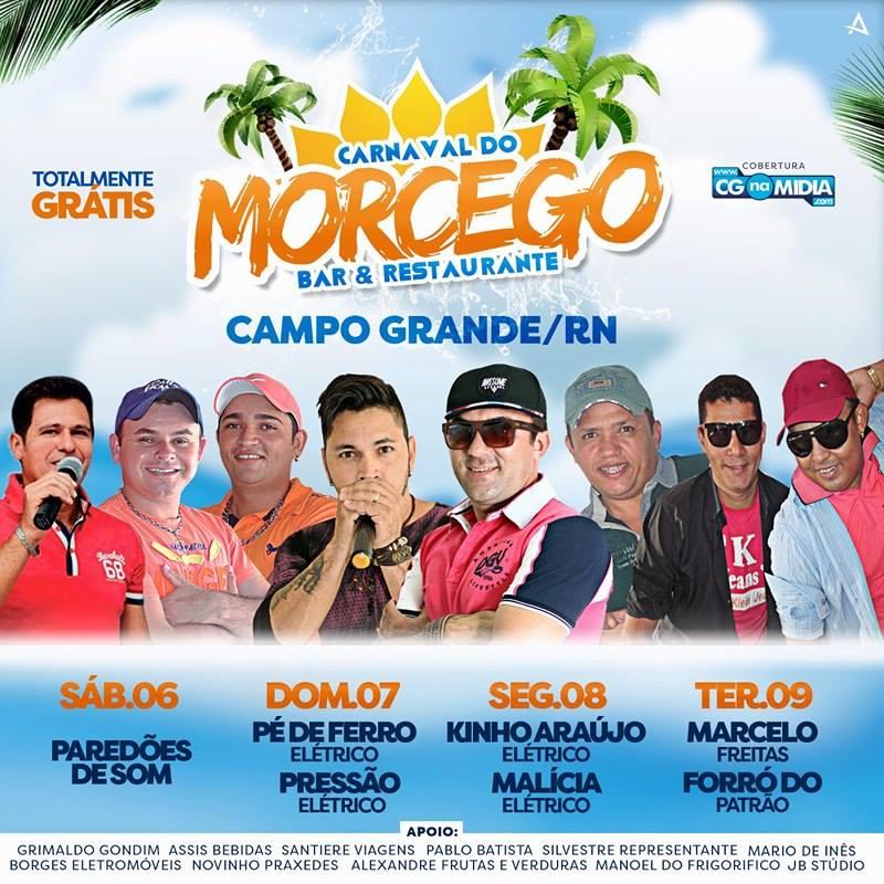 Confiram a programação do Carnaval 2016 no Bar e Restaurante Morcego em Campo Grande
