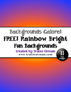 Free Digital Paper for Commercial Use http://www.teacherspayteachers.com/Product/Free-Rainbow-Bright-Digital-Paper-Clip-Art-Backgrounds