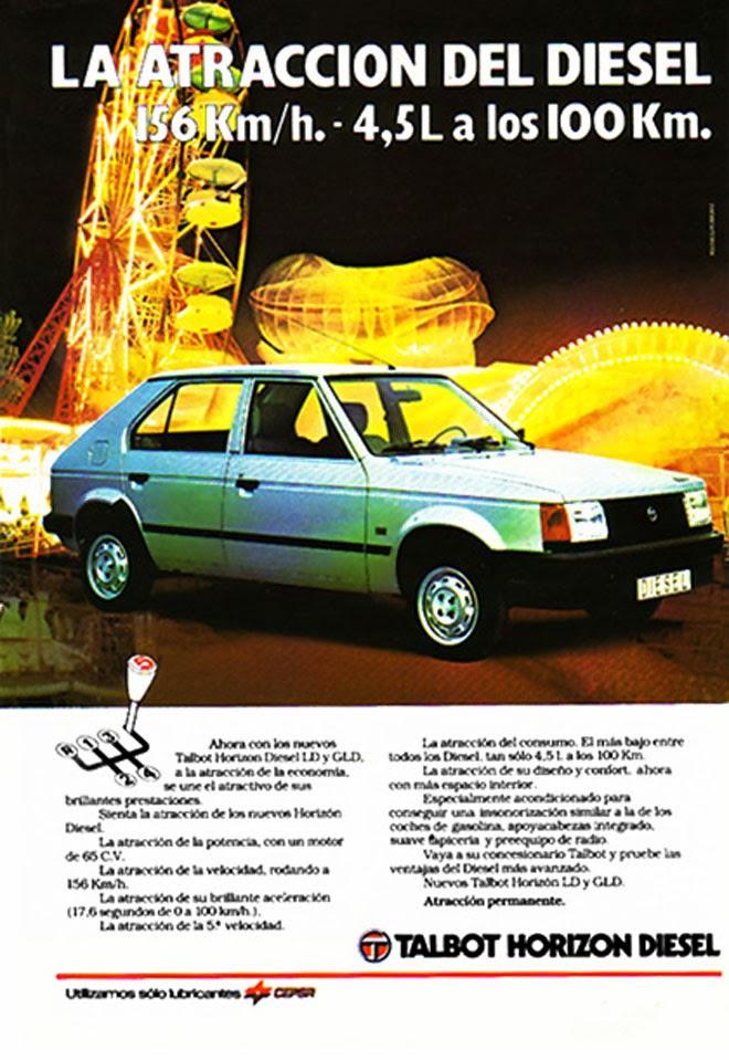Talbot Horizon Publicidad creativa de los años 80