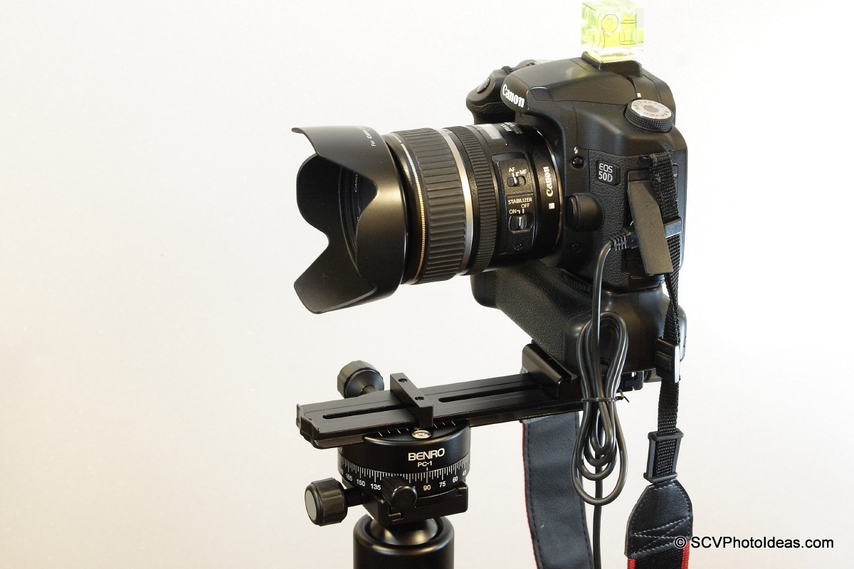 Panorama head landscape position w/ 3-axis level