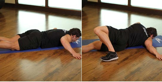 Quadriceps stretches how to build muscles for Floor quad stretch