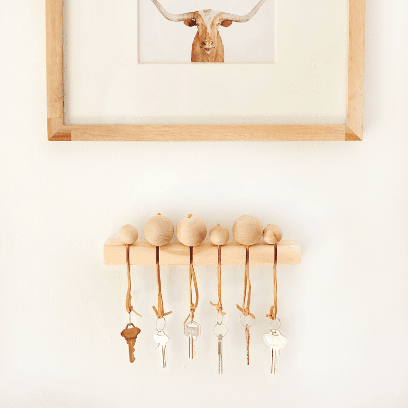 DIY Modern Wood Key Holder
