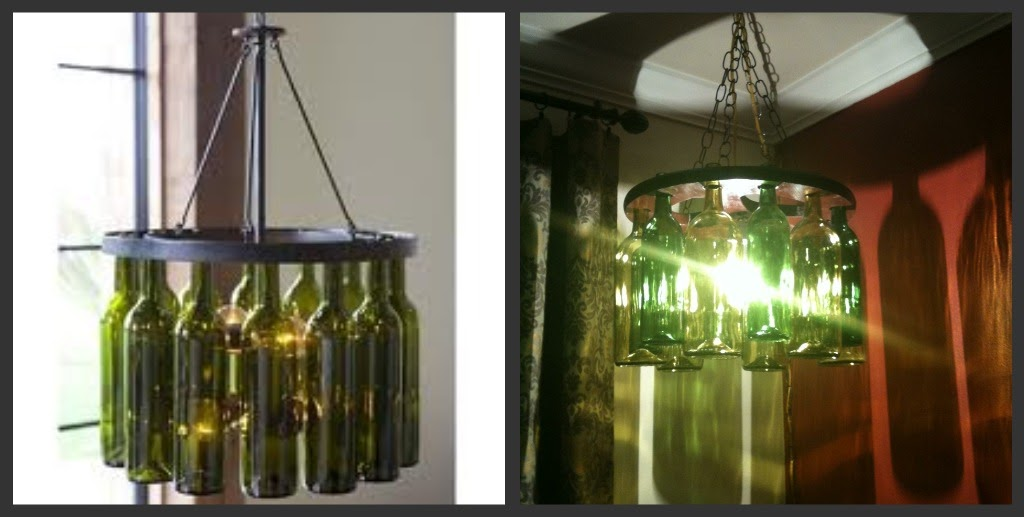 The colley blog d i y wine bottle chandelier for How to make your own wine bottle chandelier