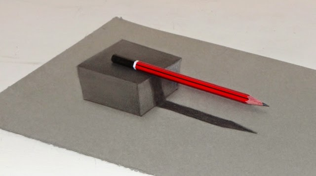how to draw a 3d cube illusion