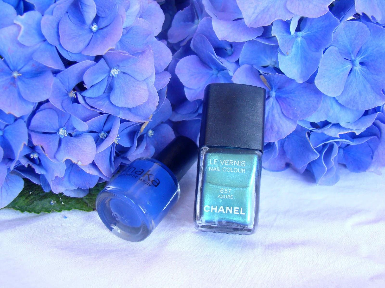 French Manucure Bleue Azuré Chanel