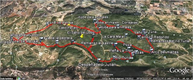 Pedralba el palmeral circular senderismo comunidad for Como se fabrica el marmol
