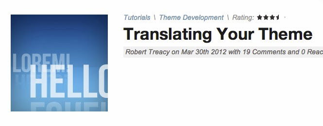 Translating Your Theme