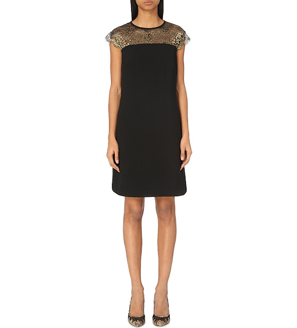 ted baker lace top black dress, black dress gold lace dress, ted baker lorene dress,
