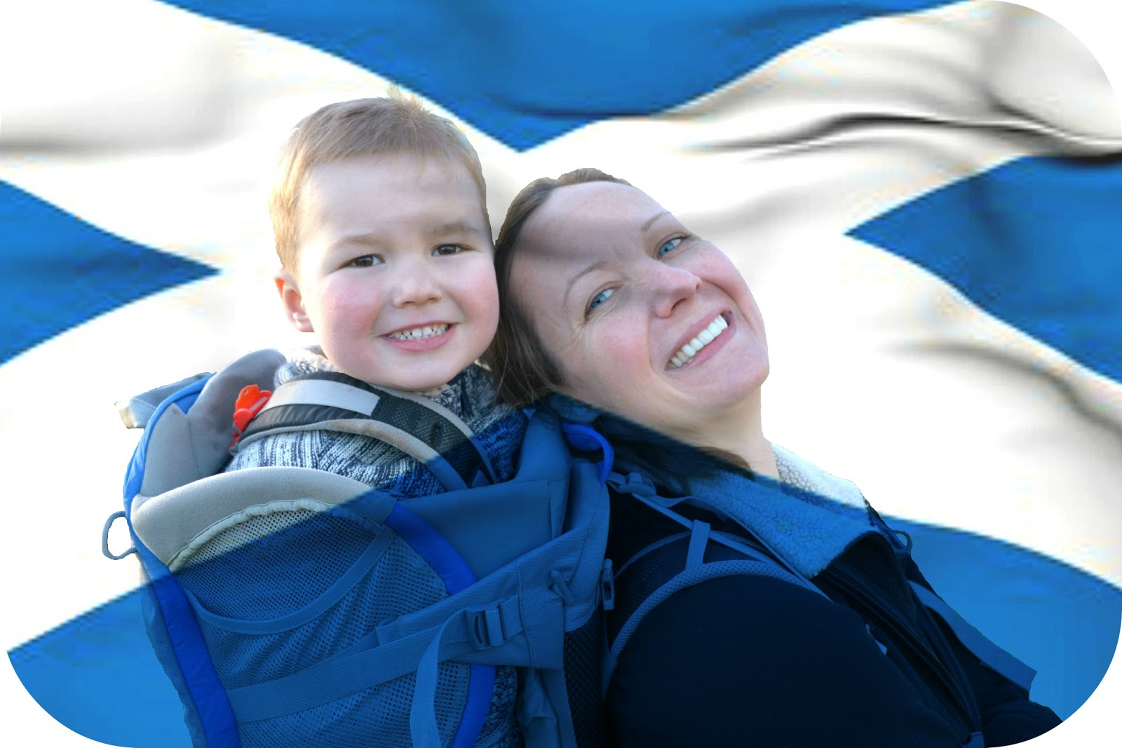A third culture kid? Kate and Jackson with Scottish flag