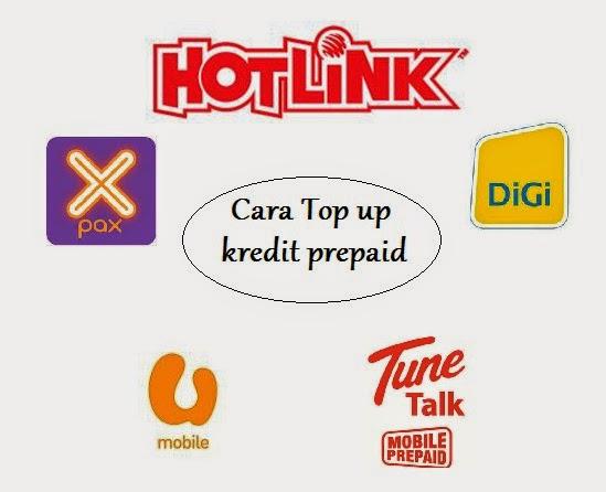 Cara reload kredit prepaid