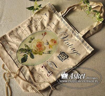 ecobag em tecido estilo vintage