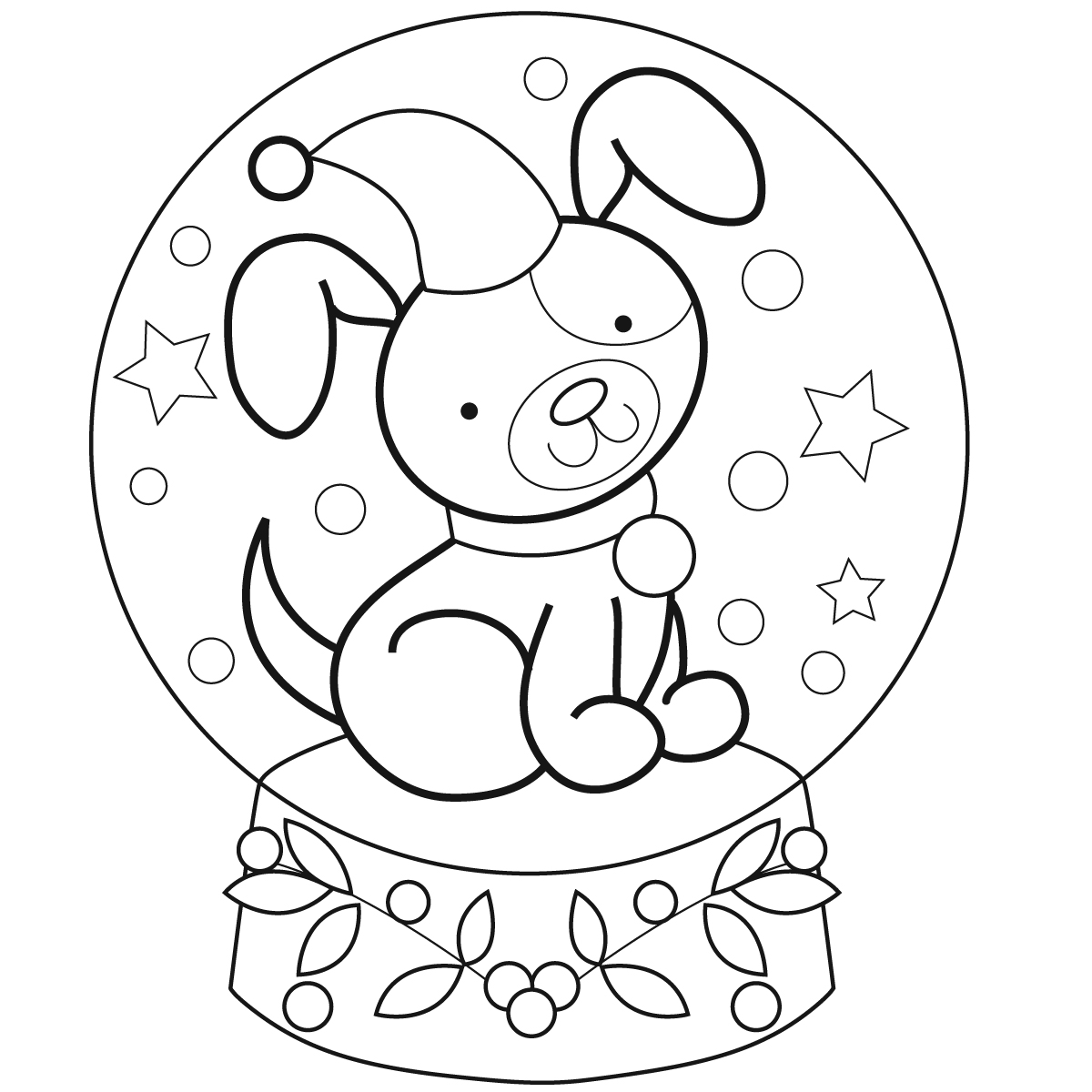 snow dog coloring pages - photo#27