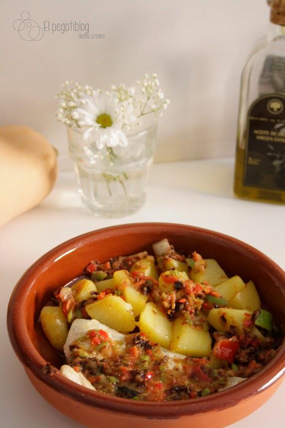 Receta lubina a la sal con aliño vinagreta