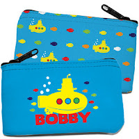 Psychobaby Lil Yellow Sub Coin Purse Blue