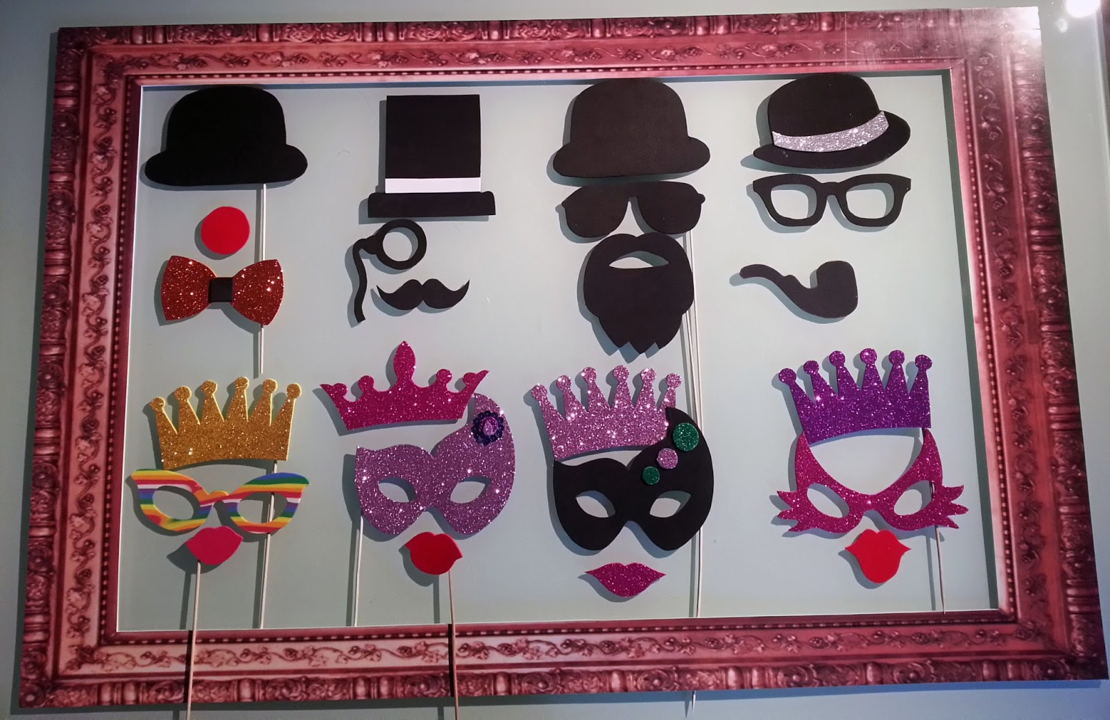 Manualidades creativas vintage nuestros accesorios atrezzo para photocall - Mascaras para carnaval manualidades ...