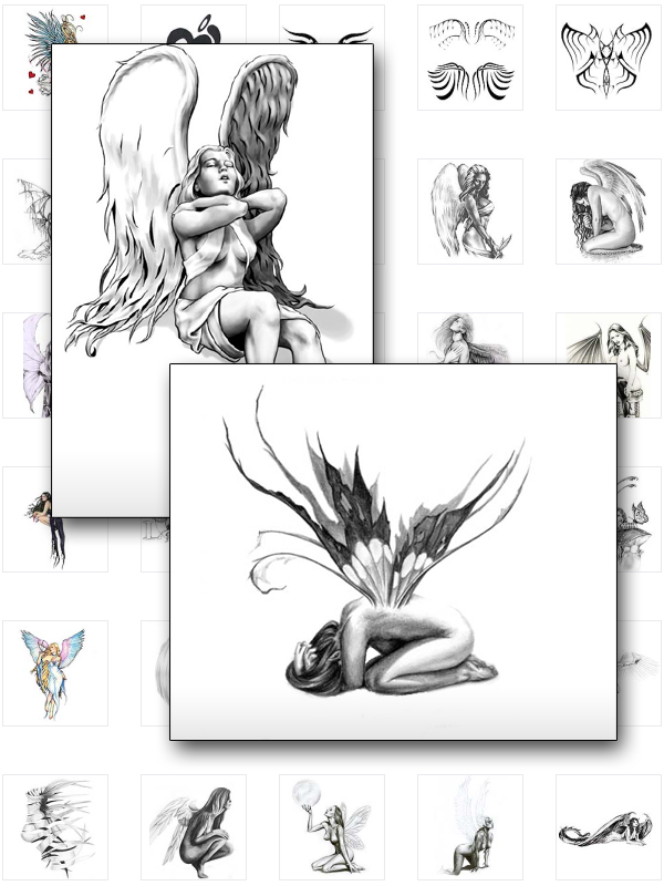 Character Design Ebook : Demon tattoo fairies and angle tattoos the best