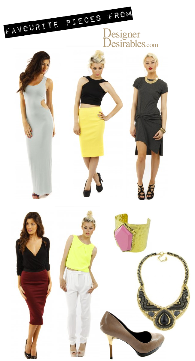 Designer Desirables Fashion Collage, midi dress, cut out dress, midi skirt
