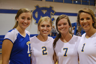 MCPS Senior Varsity Volleyball Players Honored 1