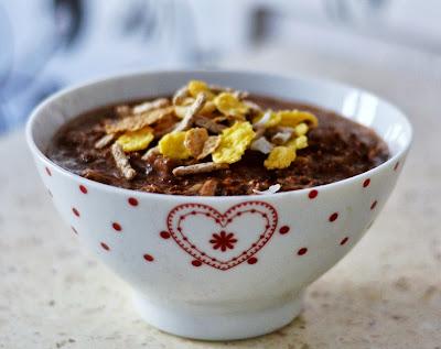 czekoladowy pudding jęczmienny