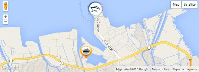 map peta lokasi pelabuhan kapal kmc kartini