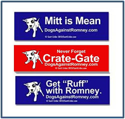 Official Dogs Against Romney Bumper Stickers