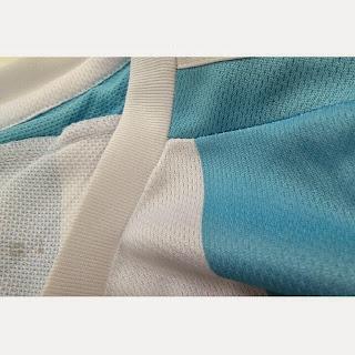 gambar photo Detail bahan kain grade ori polyester Jersey Argentina Copa 2015