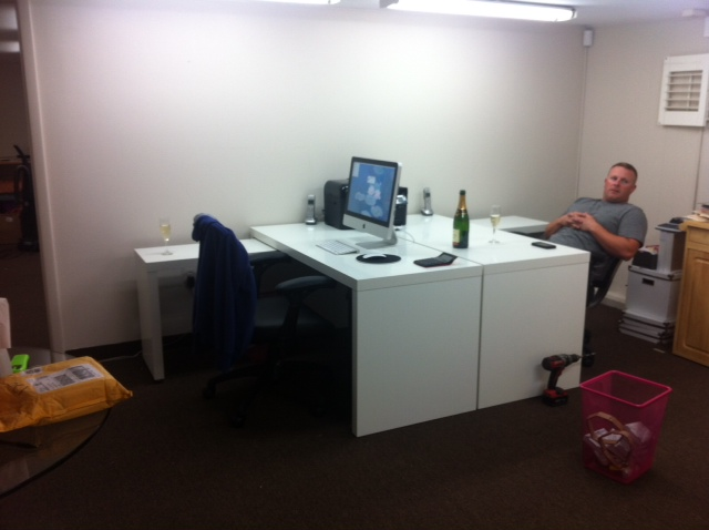 2 desks in one office l shaped wanted christinas work area to be one of the first things they saw and her have view all areas office west pear avenue office